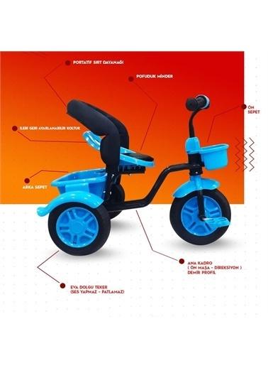 Rival Rv503 Volt 3 Tekerli Çocuk Bisikleti Eva Dolgu, Patlamaz Ses Yapmaz Kırmızı